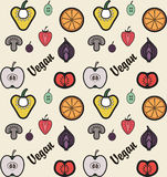 Vegan pattern Stock Images