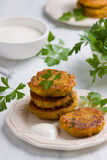 Vegan patties. Vegetarian patties made of amaranth and pumpkin Royalty Free Stock Photo