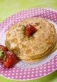 Vegan-Pfannkuchen Stockbild