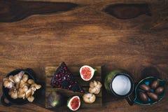 Vegan pie with chia seeds, quinoa, avocado. Royalty Free Stock Photo