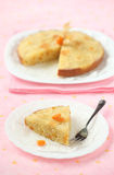 Vegan Pineapple Upside Down Cake Royalty Free Stock Photography
