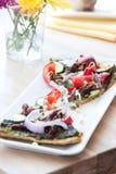 Vegan Pizza stock photos