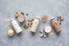 Vegan plant based milk royalty free stock photos