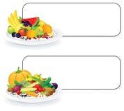 Vegan Plates Royalty Free Stock Photo