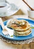 Vegan poppy seed pancake Royalty Free Stock Photography