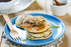 Vegan poppy seed pancake Stock Photos