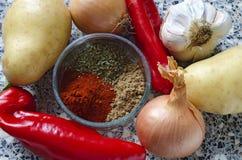 Vegan potato goulash Royalty Free Stock Images