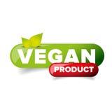 Vegan Product button vector Stock Photography