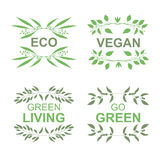 Vegan product labels Royalty Free Stock Images