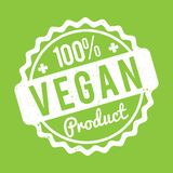 Vegan Product rubber stamp green on a white background. Vegan Product rubber stamp green on a white background vector illustration