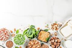 Vegan  protein sources Stock Photos