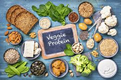 Vegan protein sources royalty free stock photography