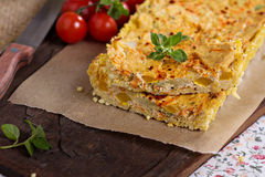 Vegan quiche with tofu Royalty Free Stock Image