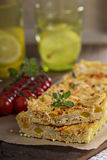 Vegan quiche with tofu Royalty Free Stock Images