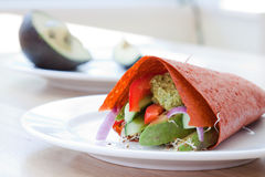 Vegan Raw Food Wrap royalty free stock photo