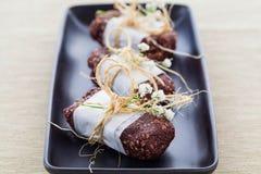 Vegan Raw Hemp Protein Bars Stock Photography