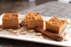 Vegan, raw  pumpkin pie /mousse Stock Image