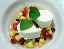 Vegan recipe Bavarian almond milk soup with star anise fruit Royalty Free Stock Photography