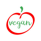 Vegan red and green logo.  healthy food vector symbol. Vegan red and green logo.  healthy food vector icon Stock Photography