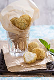 Vegan risotto arancini. Fried with herbs and breadcrumbs Royalty Free Stock Photos
