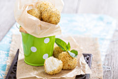 Vegan risotto arancini. Fried with herbs and breadcrumbs Royalty Free Stock Image