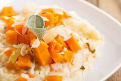 Vegan risotto with butternut squash Stock Images