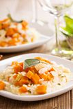 Vegan risotto with butternut squash Stock Photos