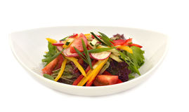 Vegan salad on white plate Royalty Free Stock Photography
