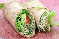 Vegan Sandwich Wraps Stock Photos