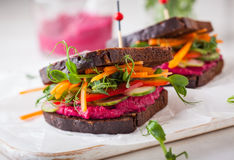 Vegan sandwiches Royalty Free Stock Images