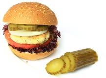 Vegan sea burger isolated on white Stock Photo