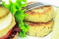 Vegan sea burger patties Royalty Free Stock Photos