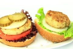Vegan sea burger  on white Royalty Free Stock Image