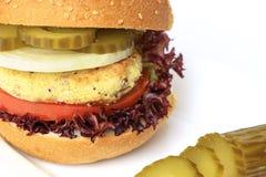 Vegan sea burger  on white Stock Photography
