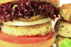 Vegan sea burger  on white Stock Photo