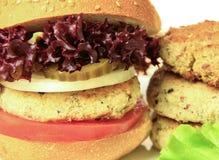 Vegan sea burger  on white Stock Photos