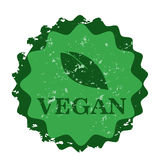 Vegan Seal stamp Stock Image