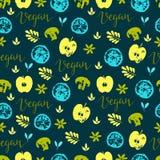 Vegan seamless pattern Stock Photos
