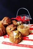 Vegan Senses Banana Buns. Christmas or Daily sweet treat Stock Image