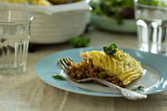 Vegan shepherd's pie Royalty Free Stock Images