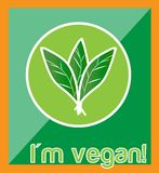 Vegan sign or banner Stock Image