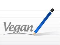 Vegan sign message illustration Royalty Free Stock Images