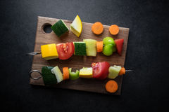 Vegan skewers on the table Royalty Free Stock Photography