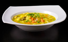 Vegan Soup Dish Royalty Free Stock Photos