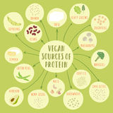 Vegan sources of protein Stock Photo