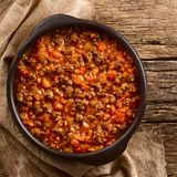 Vegan Soy Meat Bolognese Sauce royalty free stock photography