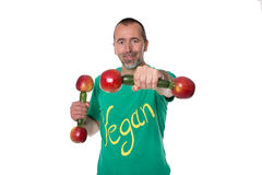 Vegan and sporty Stock Photography