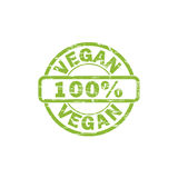 VEGAN stamp sign. VEGAN grunge stamp sign vector. Color is easily changed Stock Photography