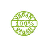VEGAN stamp sign. VEGAN grunge stamp sign vector. Color is easily changed Royalty Free Stock Photography