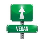 Vegan street sign illustration design Stock Photos